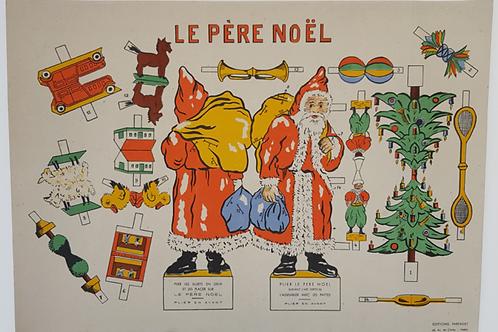 Découpage Père Noël