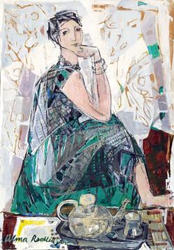 Five o'clok, 2008, oil/canvas, 90x70 cm