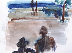 Our shadows, 2012, watercolor, 21X29 cm