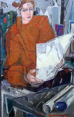 The prints passionate, Ileana, 2010, oil/canvas, 80x50 cm