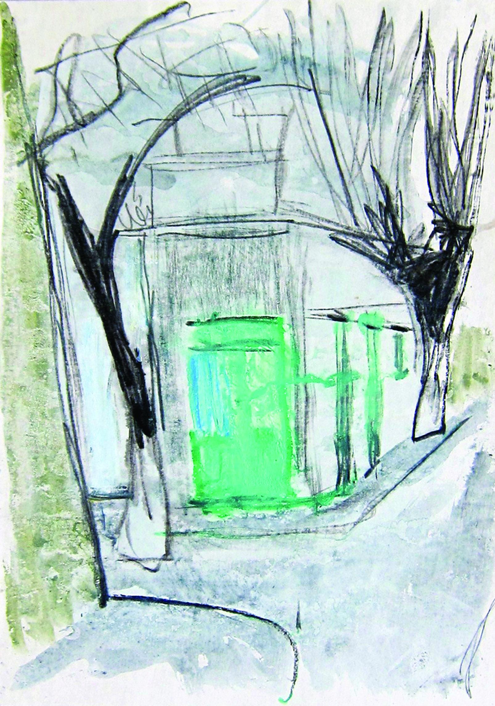Fall, 1977, watercolor,42X29 cm