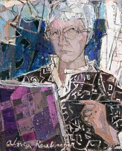 Self-portrait, 2008, oil/canvas, 50x41 cm