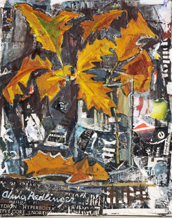 Fall in Bucharest, 2010, oil/canvas, 50x40 cm
