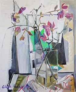 Magnolias, 2013, oil/canvas, 60x50 cm