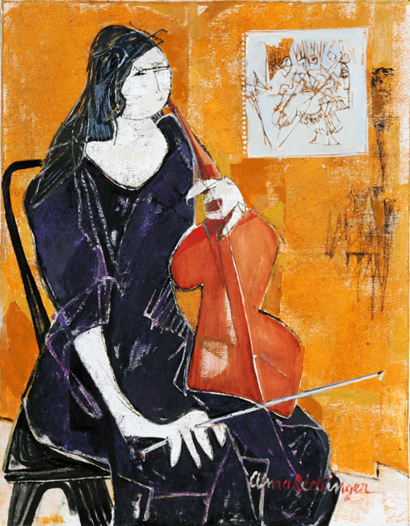 The violin player, 2008, oil/canvas, 90x70 cm