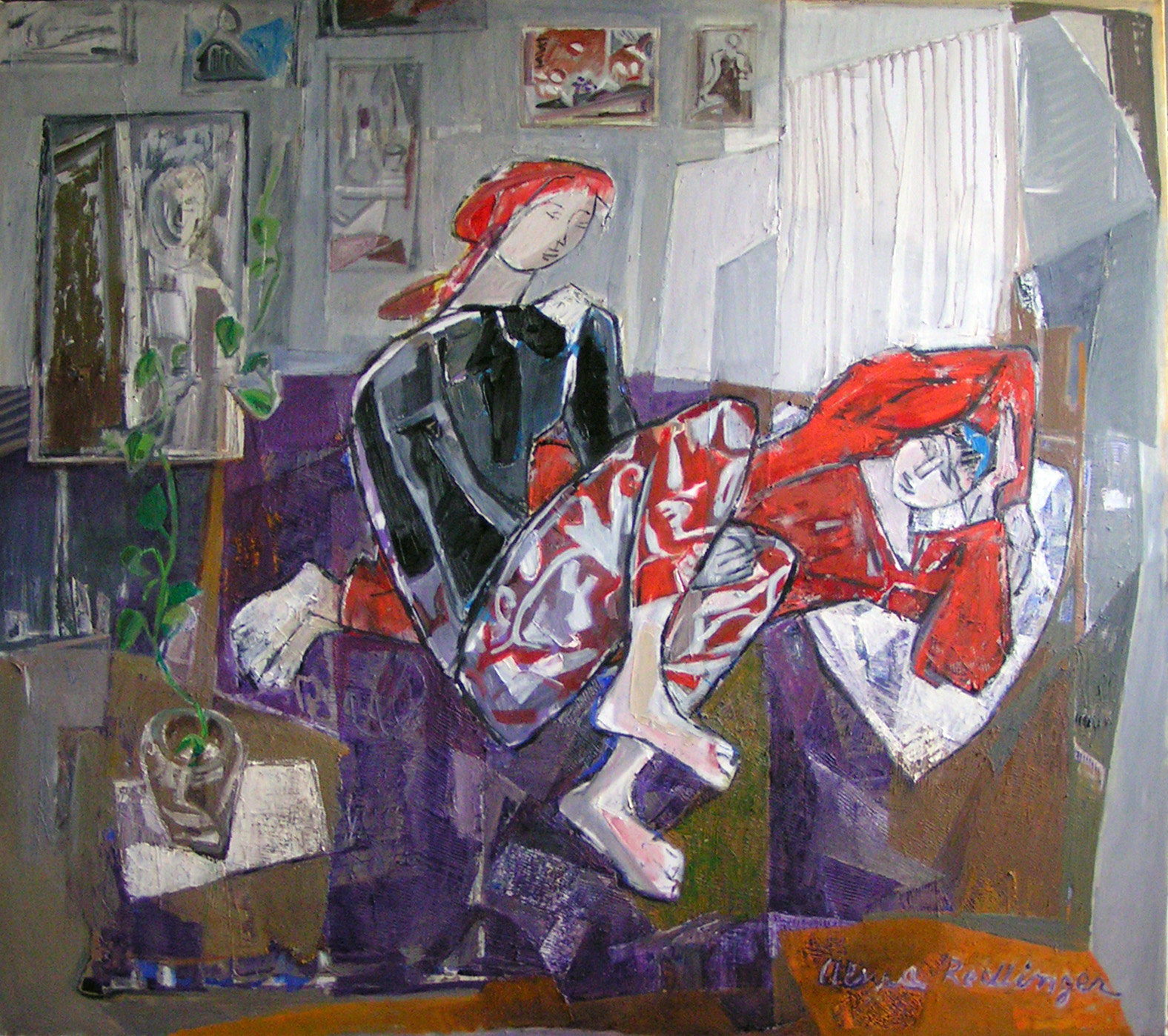 Friends in the studio, 2011, oil/canvas