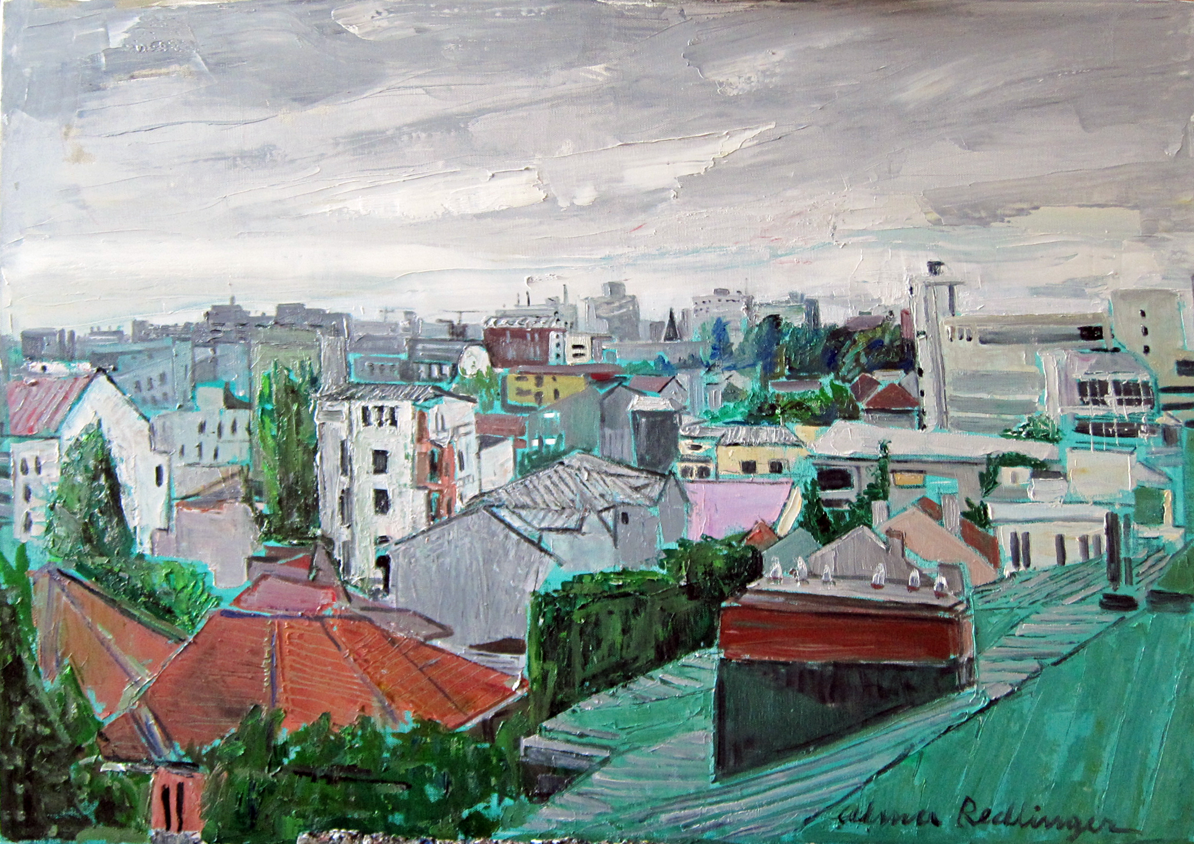 Bucharest before the storm, 2012, oil/canvas, 70X100 cm