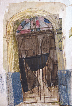 Gate of a world, 1978, mixed media, 42X29 cm
