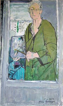 Self-portrait, 2014, oil/canvas, 100x60 cm