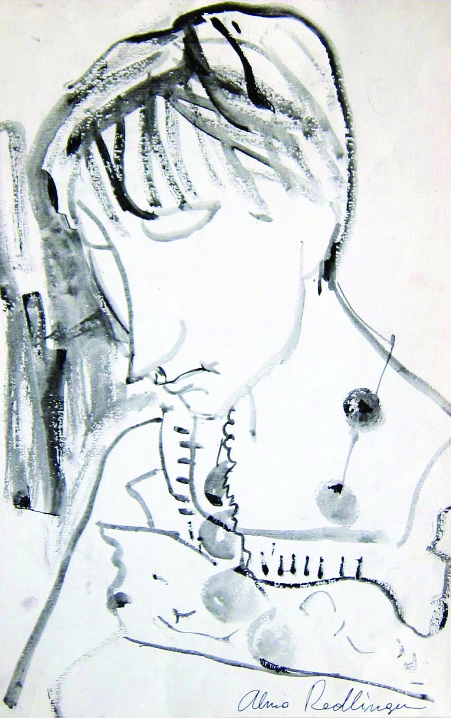 Raluca, 1990, ink_ paper, 38X25 cm