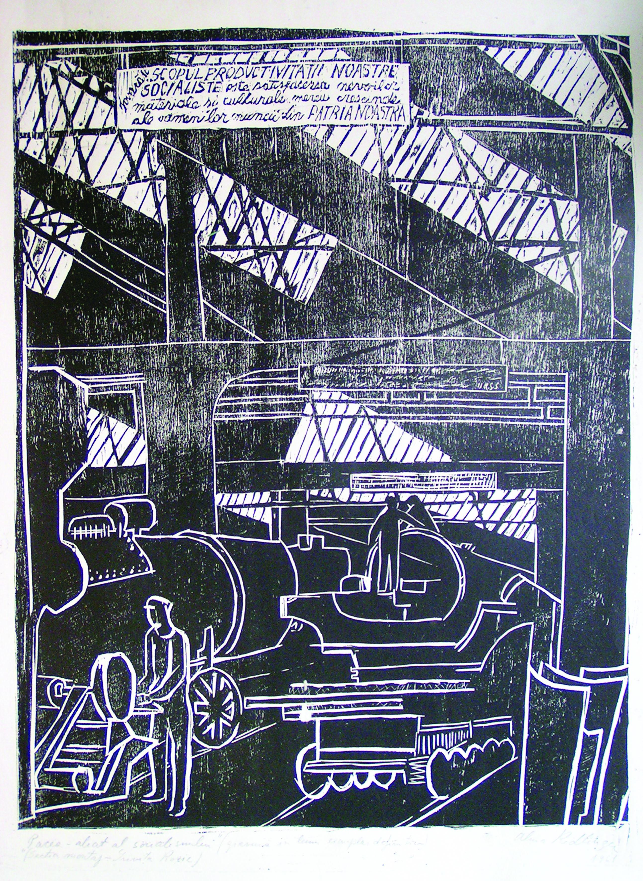Peace, 1961, woodcut, 53X41 cm