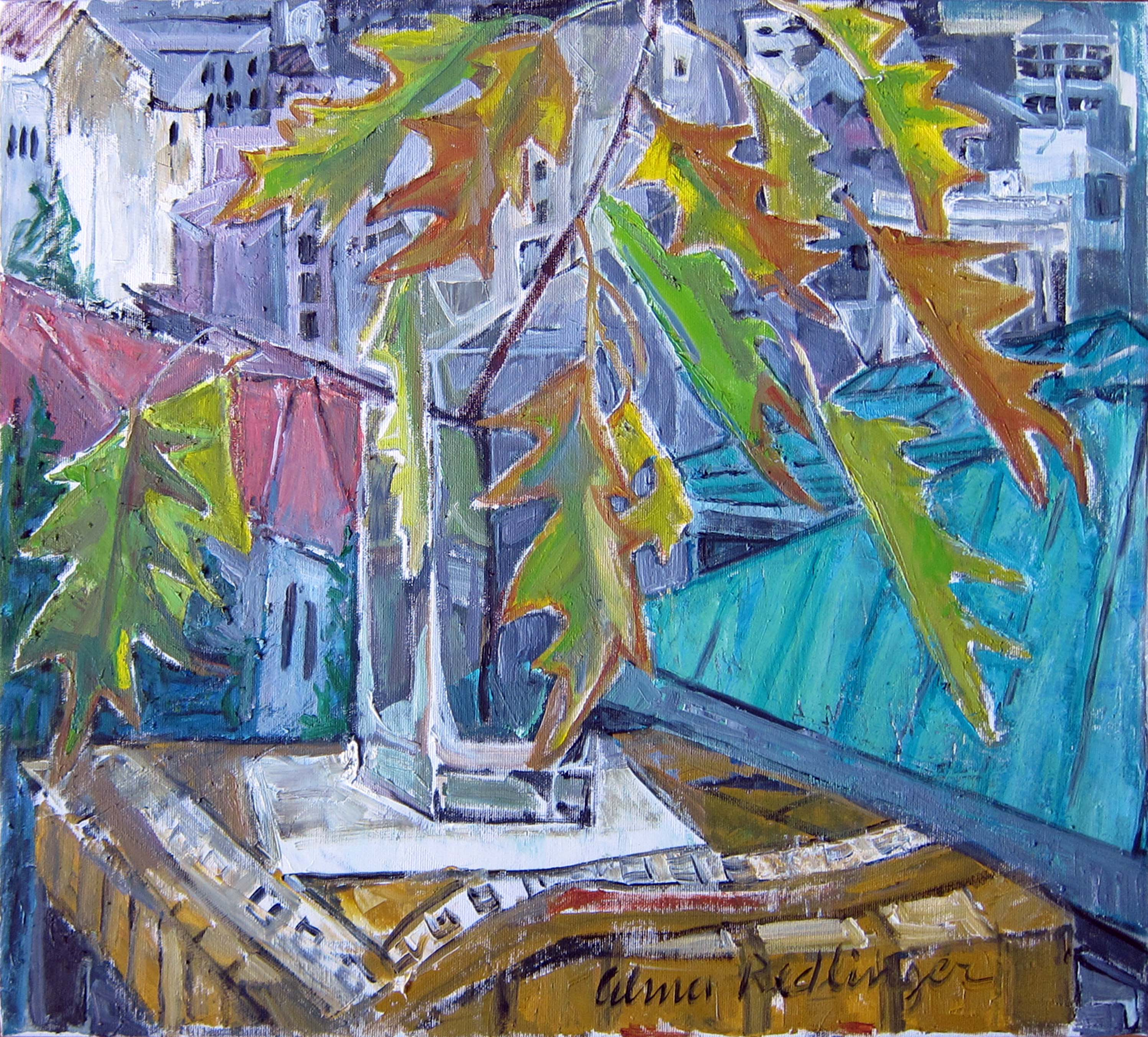 Autumn leaveas, 2012, oil/canvas, 50x55 cm
