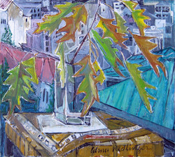 Autumn leaveas, 2012, oil/canvas, 50x55 cm