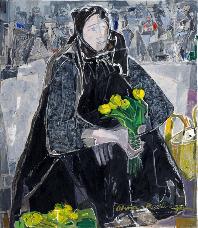 The water lilies seller, 2009, oil/canvas, 80x70 cm
