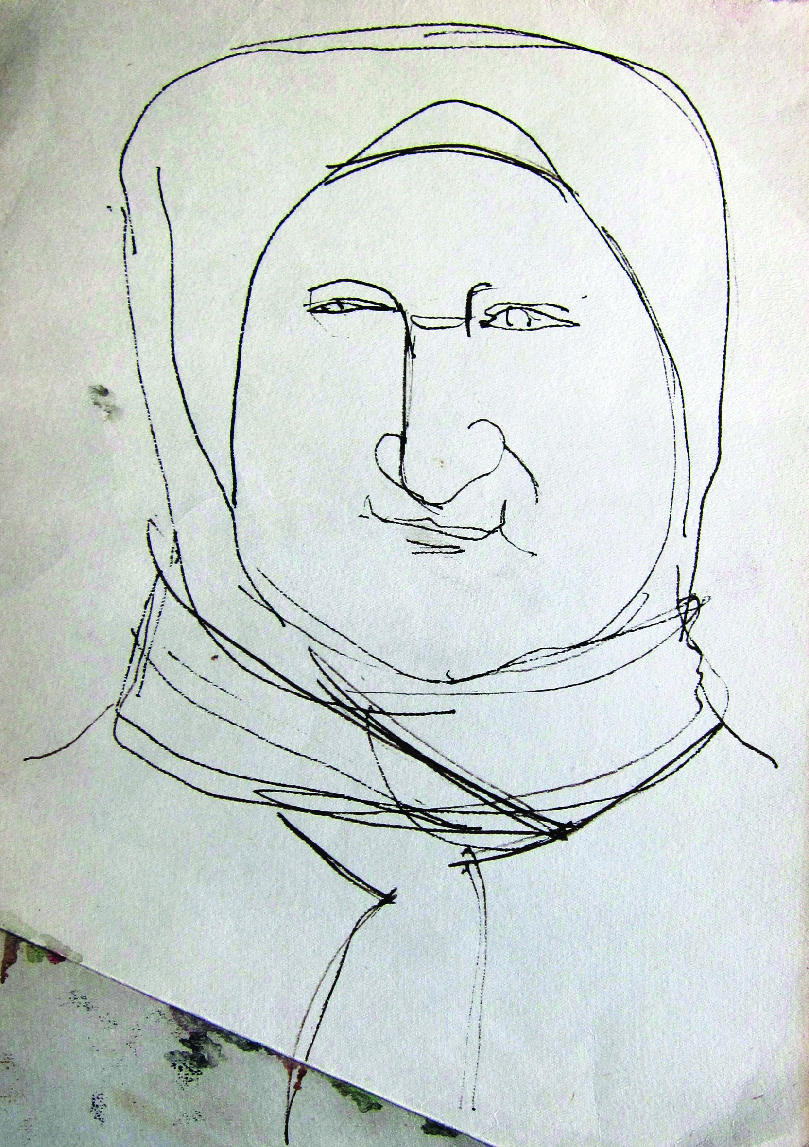 The aunt, 1966, ink_ paper, 29X21 cm