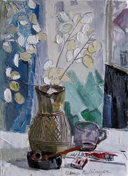 Pipe and napoleons, 2013, oil/canvas, 55x40 cm