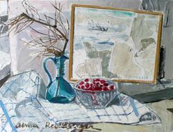 Cheries with landscape, 2008, oil_canvas, 40x50 cm