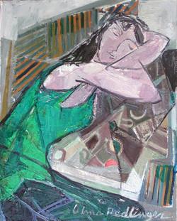 Pose - the dream, 2010, oil/canvas, 50x40 cm
