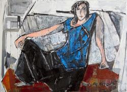 The blue top, 2014, oil/canvas, 40x55 cm