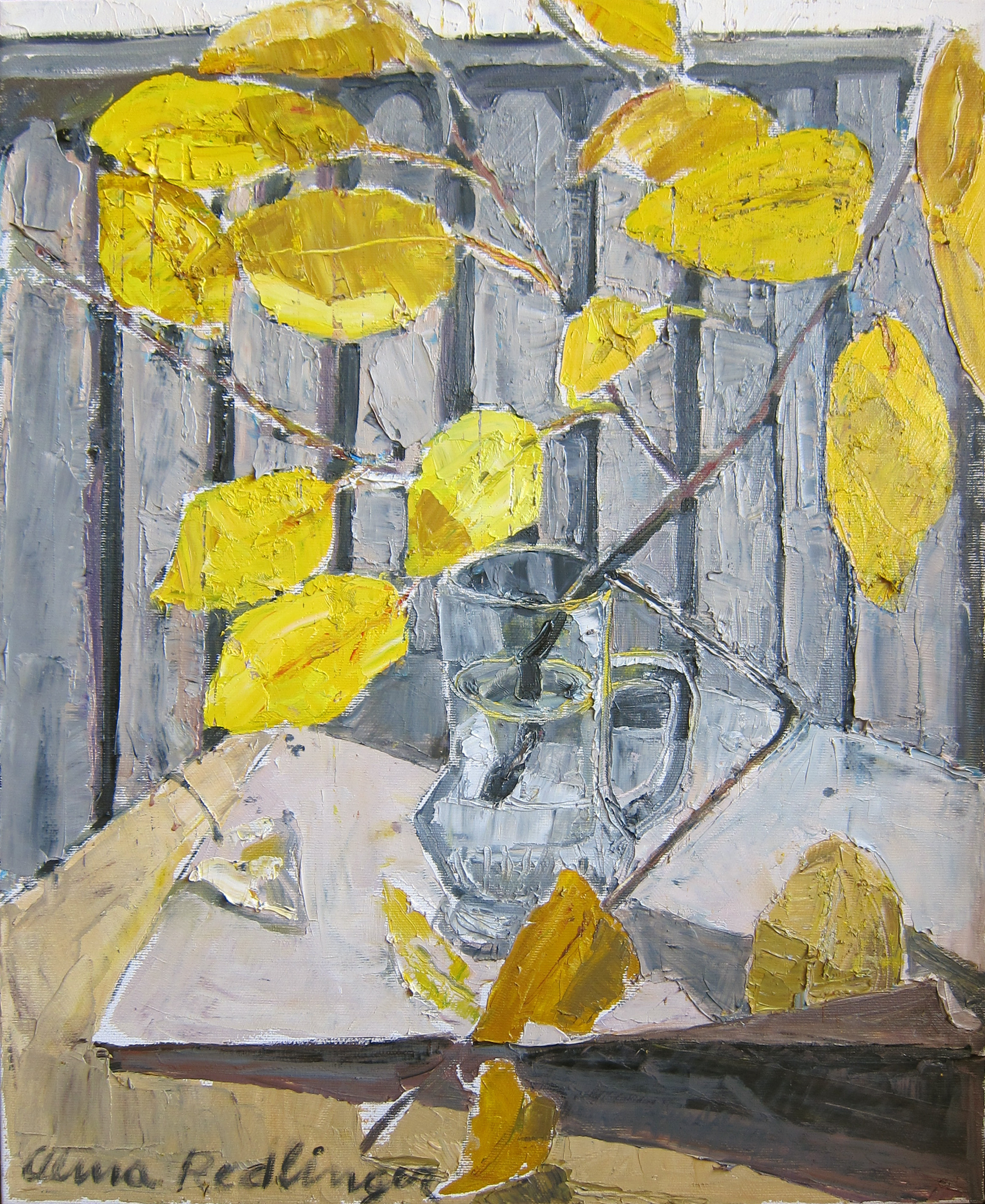 The last leaves, 2011, oil/canvas, 50x40 cm
