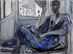 Daria contrejour, 2014, oil/canvas, 45x60 cm