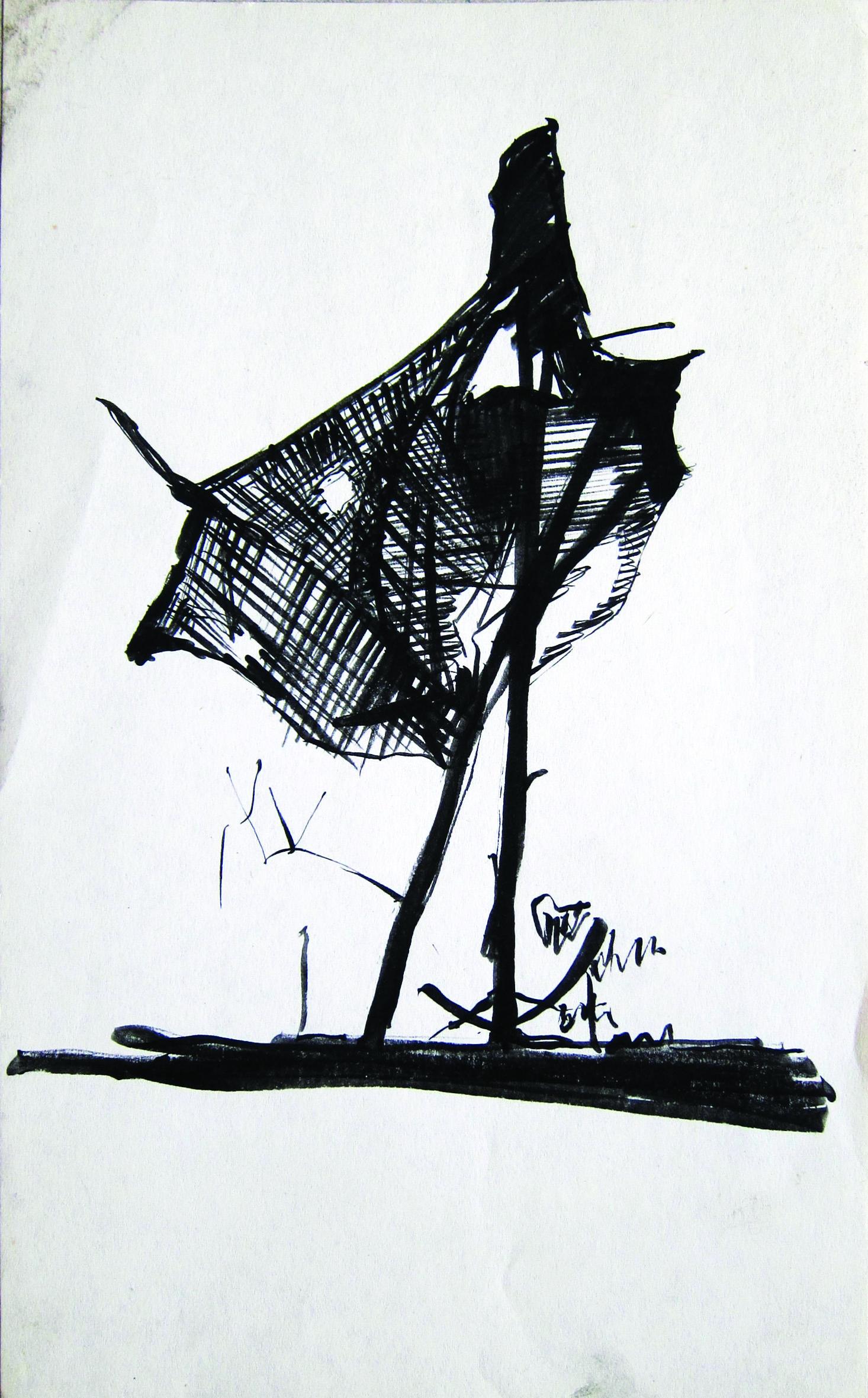 Scarecrow, 1985, ink_ paper, 20X12 cm