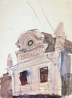 House with style, 1978, watercolor, 29X21 cm