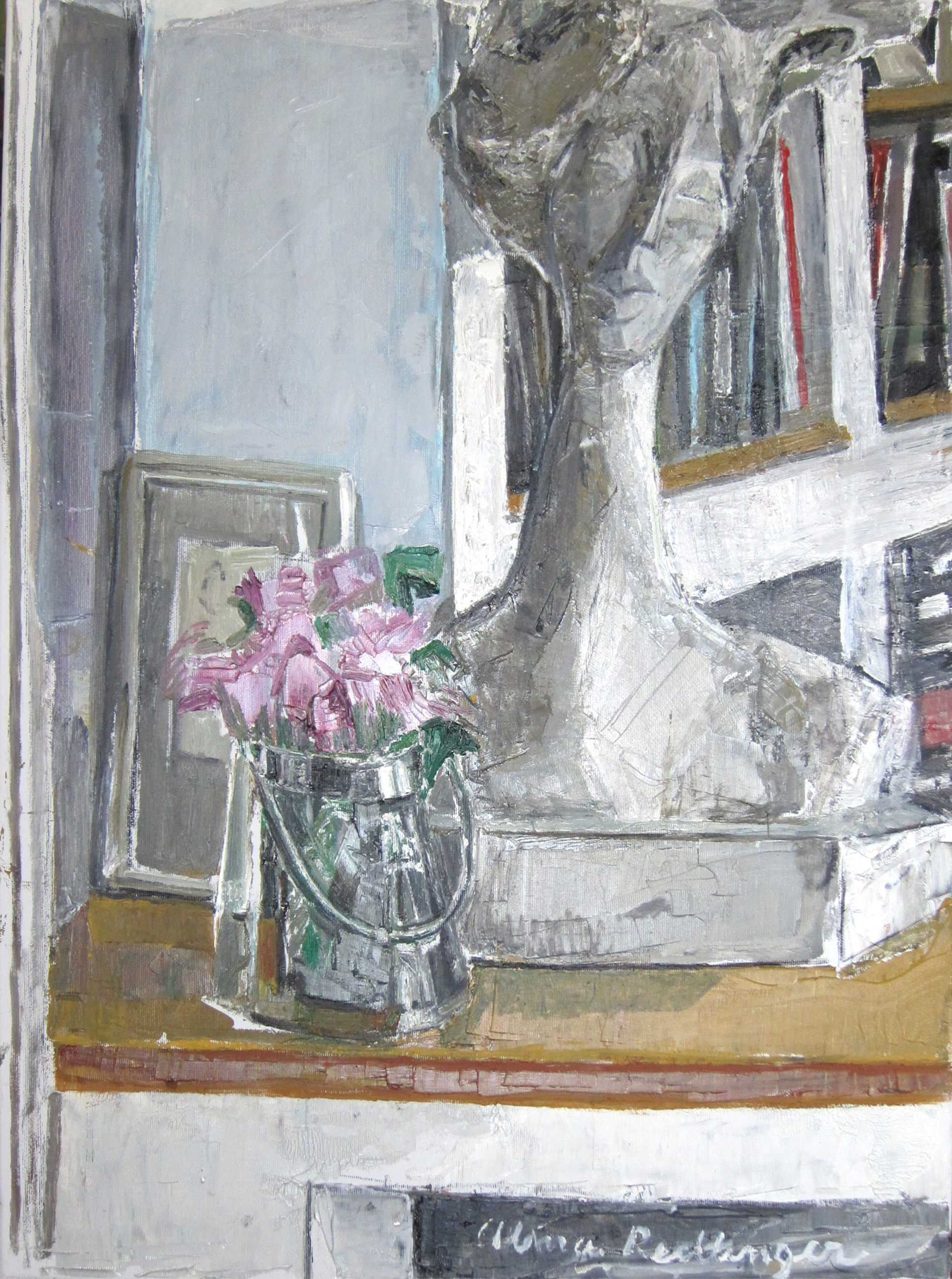 Lelia's sculpture, 2012, oil/canvas, 65x50 cm