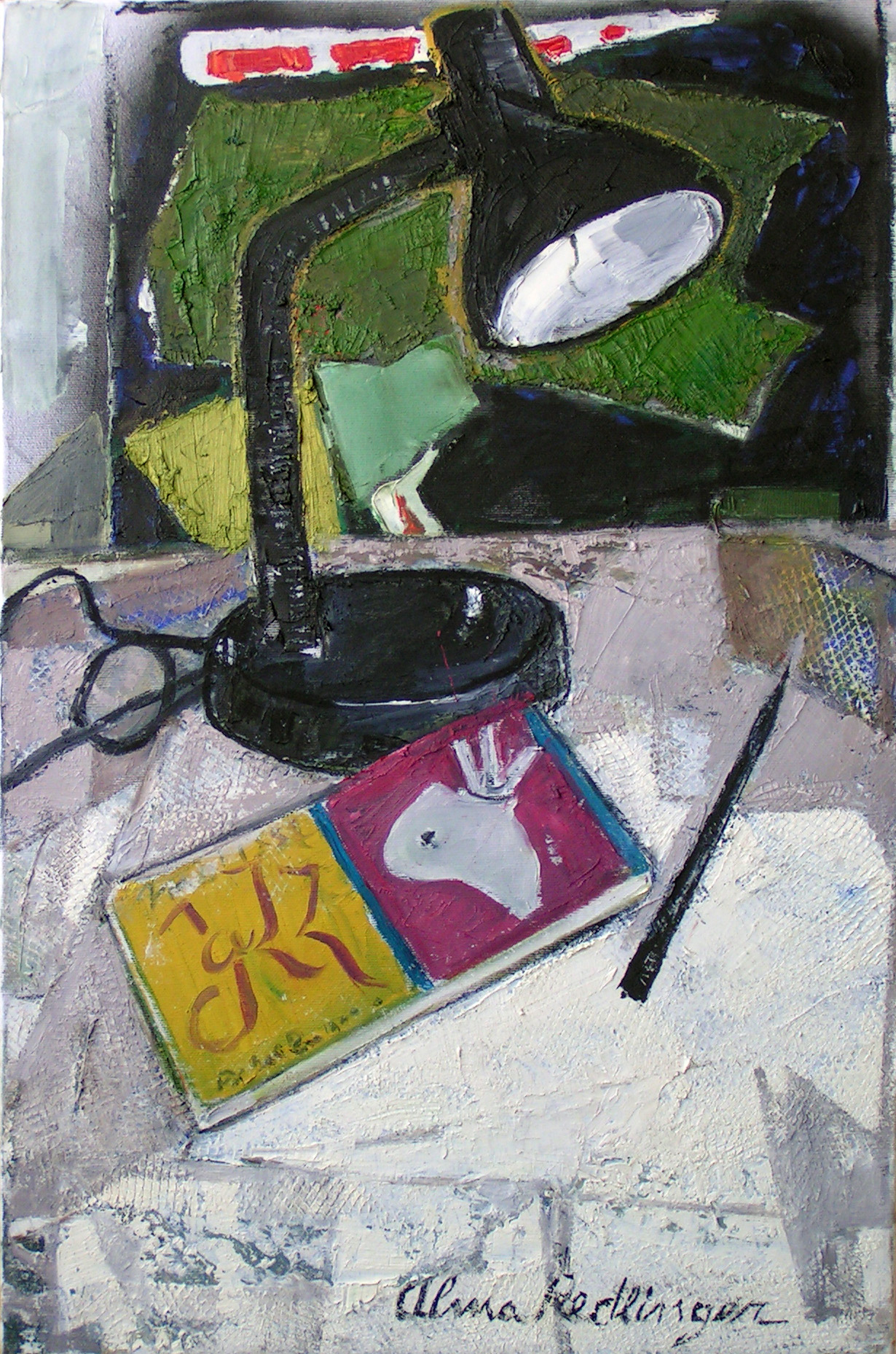 Jazz and the black lamp, 2010, oil/canvas, 60x40 cm