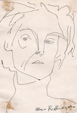 Edith Mayer, 1960, ink, 15X10 cm
