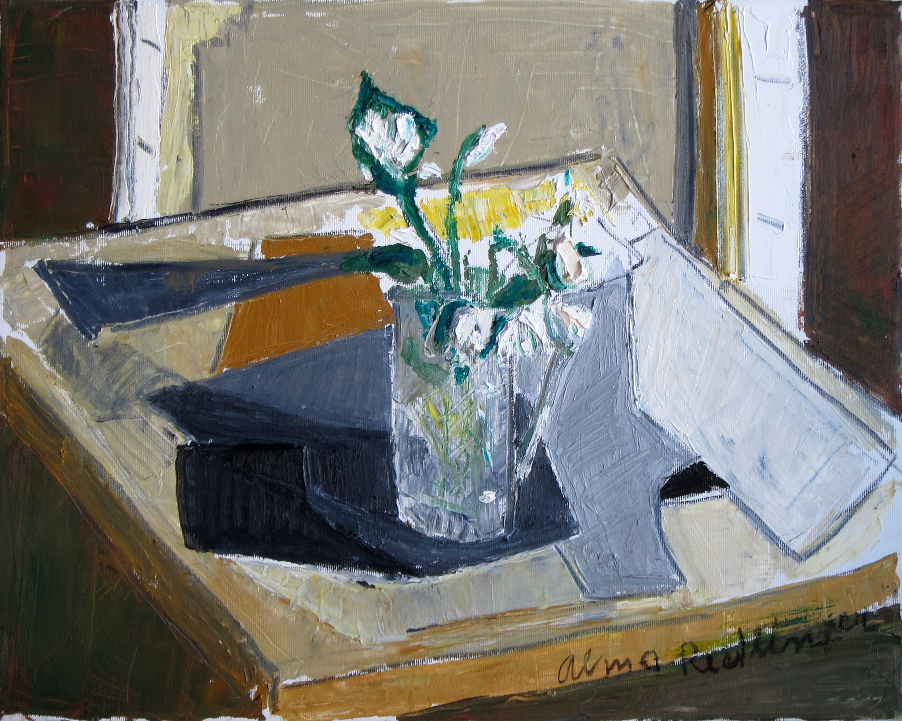 February snowdrops, 2015, oil/canvas, 40x50 cm