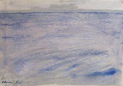 The sea at Eforie Nord, 1985, watercolor, 30X42 cm