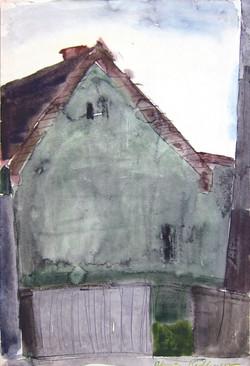 Somewhere in Targoviste, 1978, watercolor,48X33 cm
