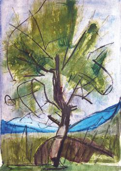Tree of life, 1978, watercolor, 29X21 cm