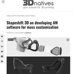 Shapeshift 3D on Developing AM Software for Mass Customization