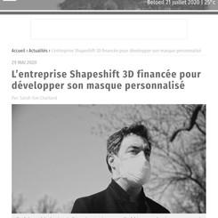 Shapeshift 3D Financed to Develop A Custom-Fit Mask