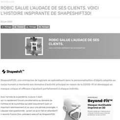 Robic Congratulates the Audacity Of Its Clients. Here is Shapeshift 3D's Inspiring Story.