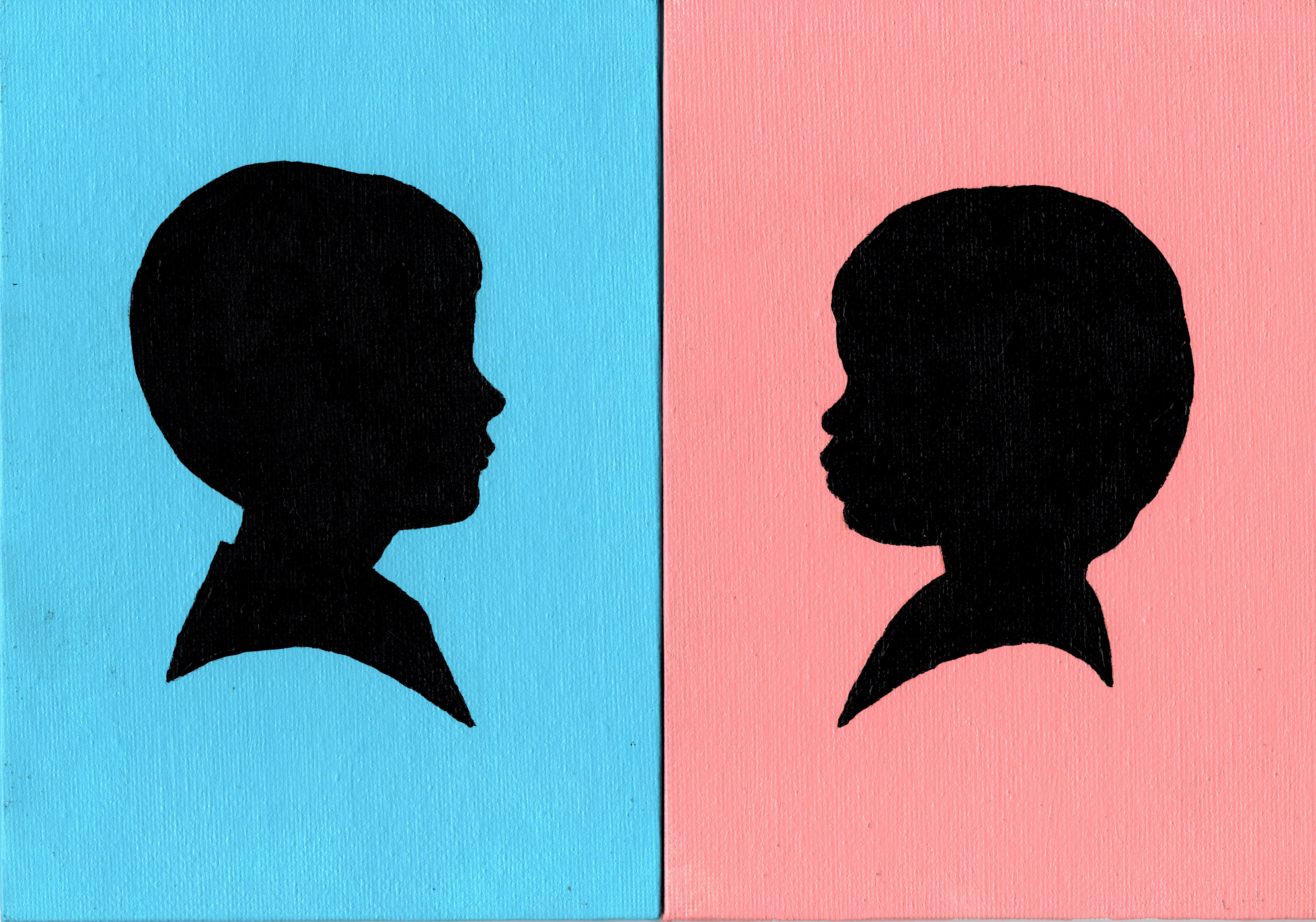 """Color Background Silhouettes"""