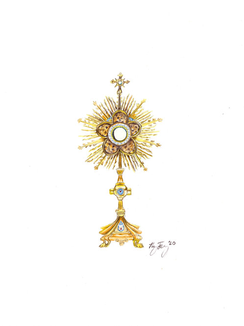 """St. Patrick Dallas Monstrance"" Print (8"" x 10"")"