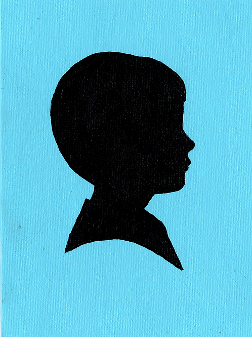 Color Background Individual Silhouette Painting