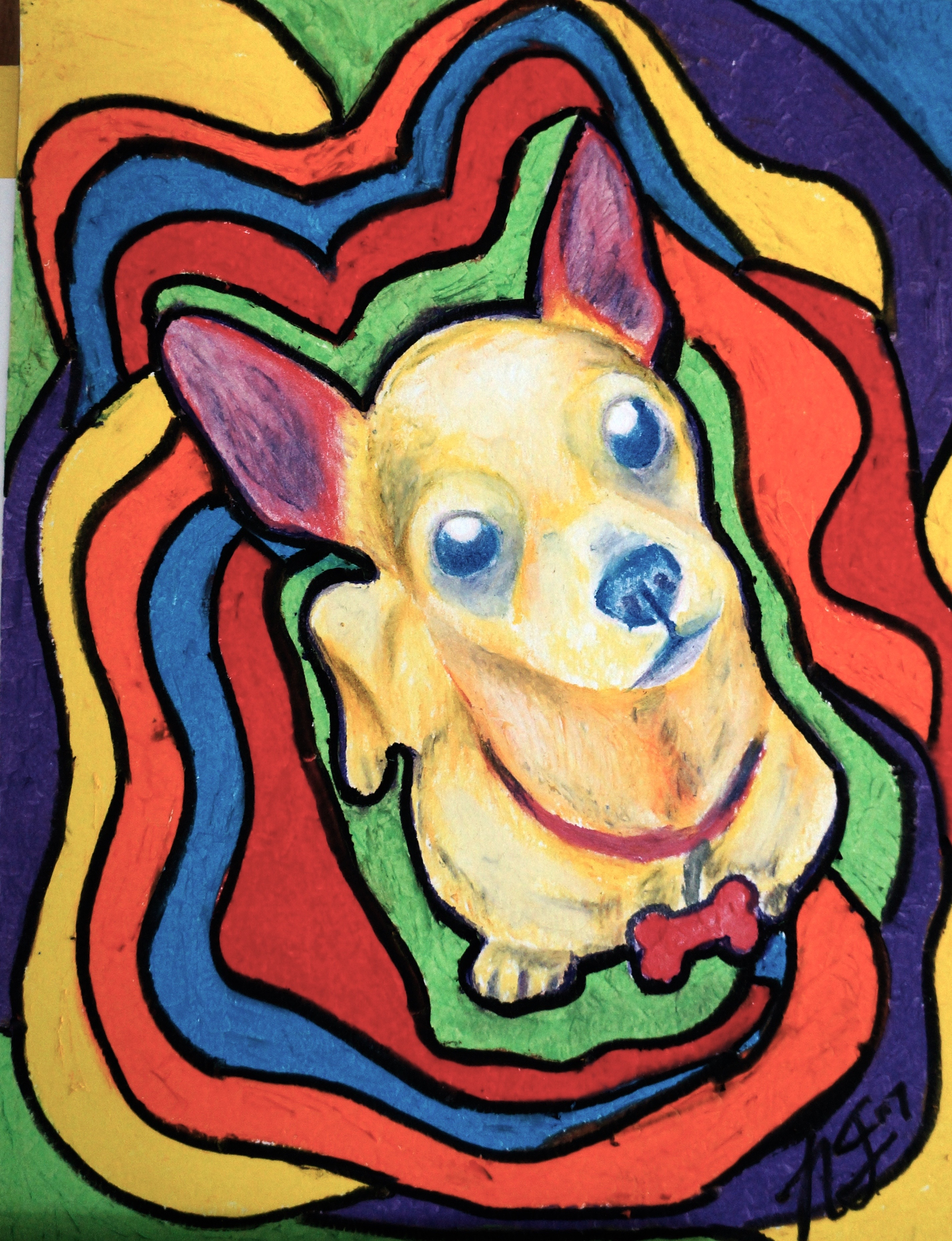 Oil Pastel Chihuahua