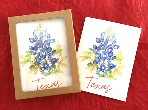 Texas Bluebonnet Note Card Set