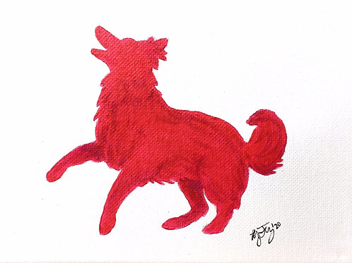 Custom Pet Watercolor Silhouette Painting (No Background)