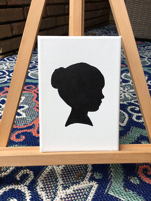 Individual Silhouette Painting on Canvas