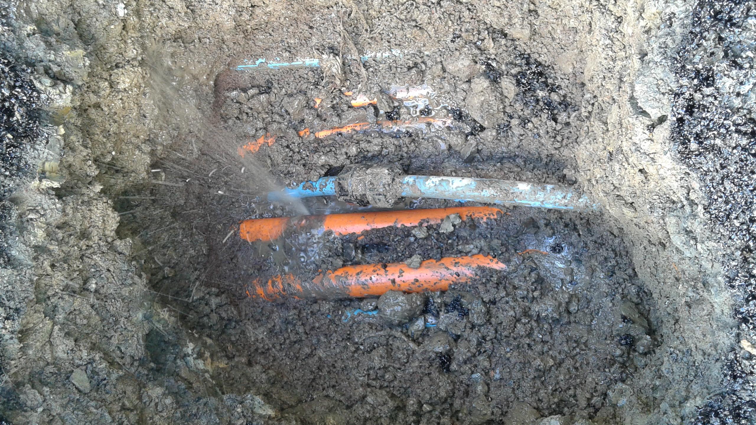 Leakage Water Bursting through pipes