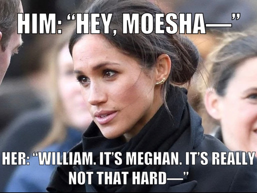 A Chat Between William and Meghan at a Function in Town...