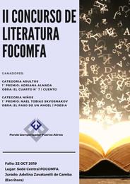 II CONCURSO DE LITERATURA FOCOMFA 2019