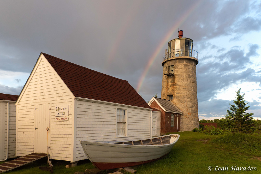 rainbow over Monhegan Island Lighthouse