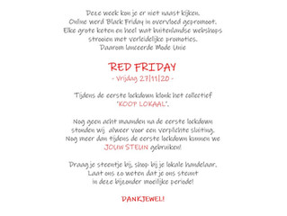 RED FRIDAY - LOCAL is the NEW BLACK