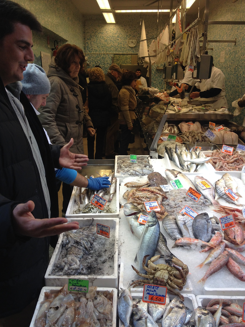 Giancarlo at the fish market